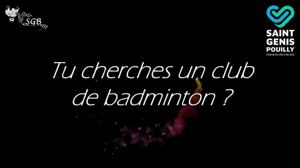 Découvrez la nouvelle vidéo de Saint-Genis Badminton !